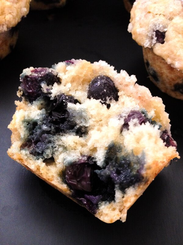 Bleuberry Muffins with Streusel Topping