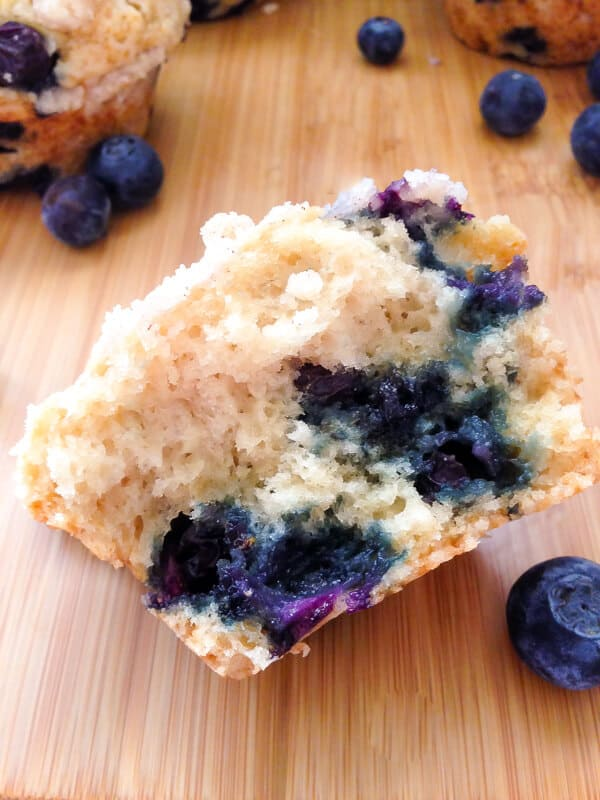 Fluffy, buttery & super moist blueberry muffins with streusel topping. Bursting with blueberries, this easy recipe will be your new favorite