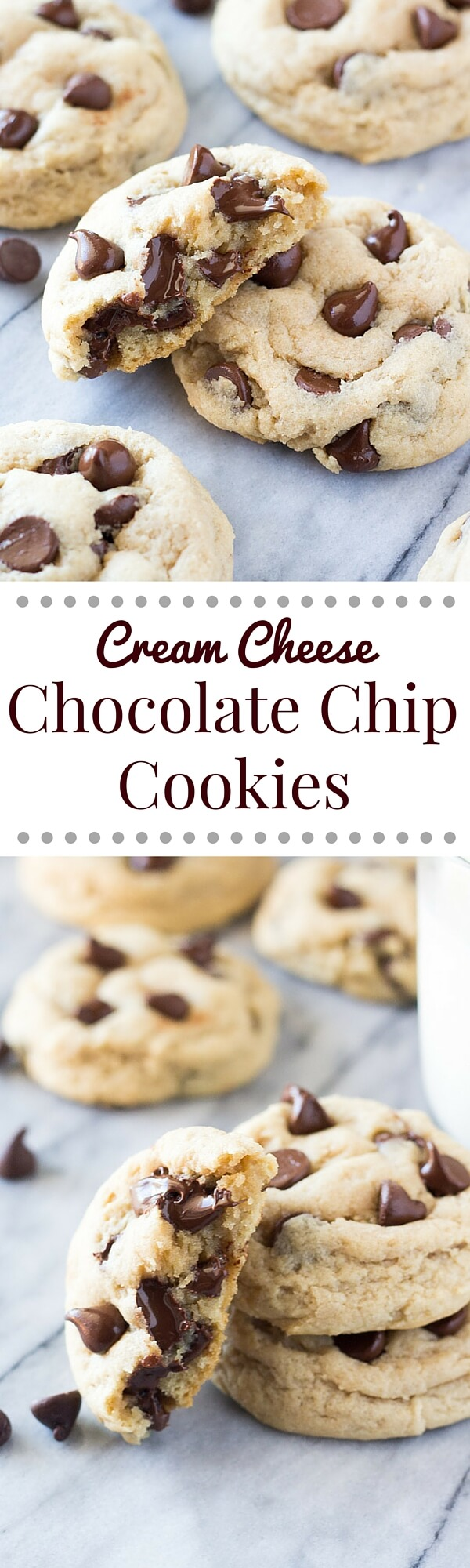 Cream Cheese Chocolate Chip Cookies - Just so Tasty