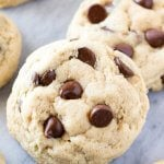 Cream Cheese Chocolate Chip Cookies. The softest, chewiest most dangerously delicious recipe for chocolate chip cookies | www.justsotasty.com