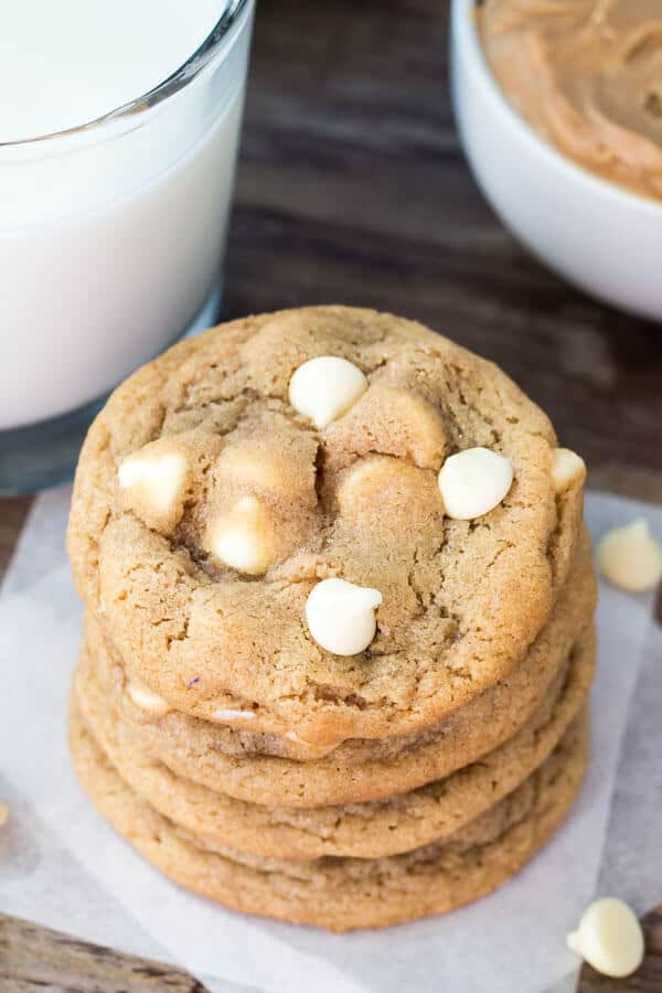 Peanut Butter White Chocolate Chip Cookies Just So Tasty