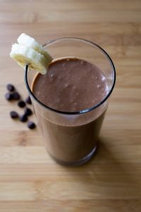 Chocolate Peanut Butter Banana Smoothie. Dairy free, sugar free & only 5 ingredients - this smoothie tastes indulgent but is completely diet approved. www.justsotasty.com