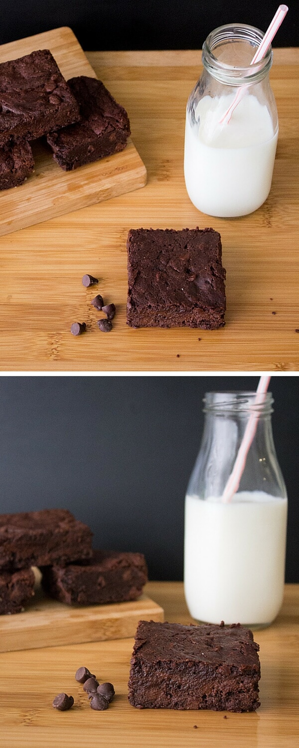 Fudge Brownies. Super decadent, fudgy & dense - these brownies are dangerous!