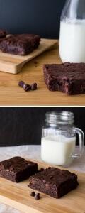 Fudge Brownies. Super decadent, fudgy & dense - these brownies are dangerous!