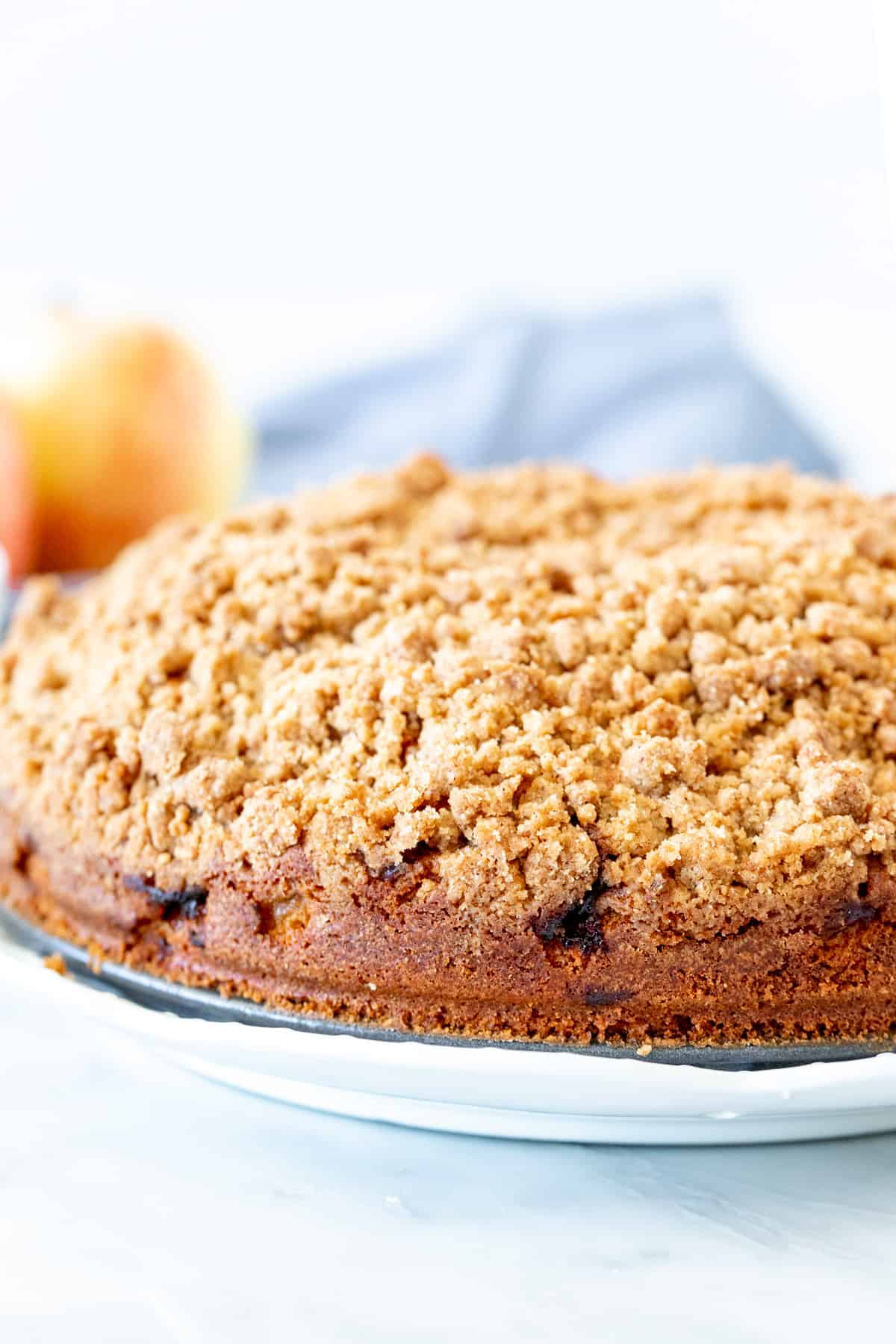 9-inch round coffee cake with streusel topping