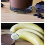 Skinny Mocha Smoothie. Dairy free, vegan & no refined sugars - skip the coffee shop and make this guilt-free, totally delicious mocha instead!