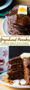 Filled with spices, super fluffy & perfectly moist - these easy Gingerbread Pancakes are the ultimate breakfast for the holidays!