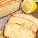 This lemon loaf is moist and tender with beautiful golden edges and the most delicious lemon flavor. It's an easy lemon bread recipe that's sooo much better than Starbucks. #lemon #lemonloaf #lemonbread #recipes #qickbreads