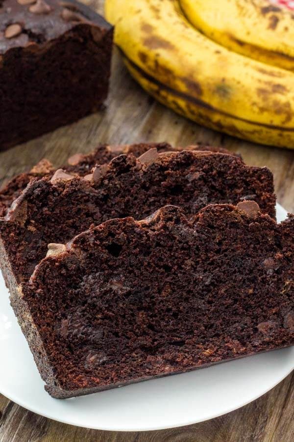 Double Chocolate Banana Bread Just So Tasty