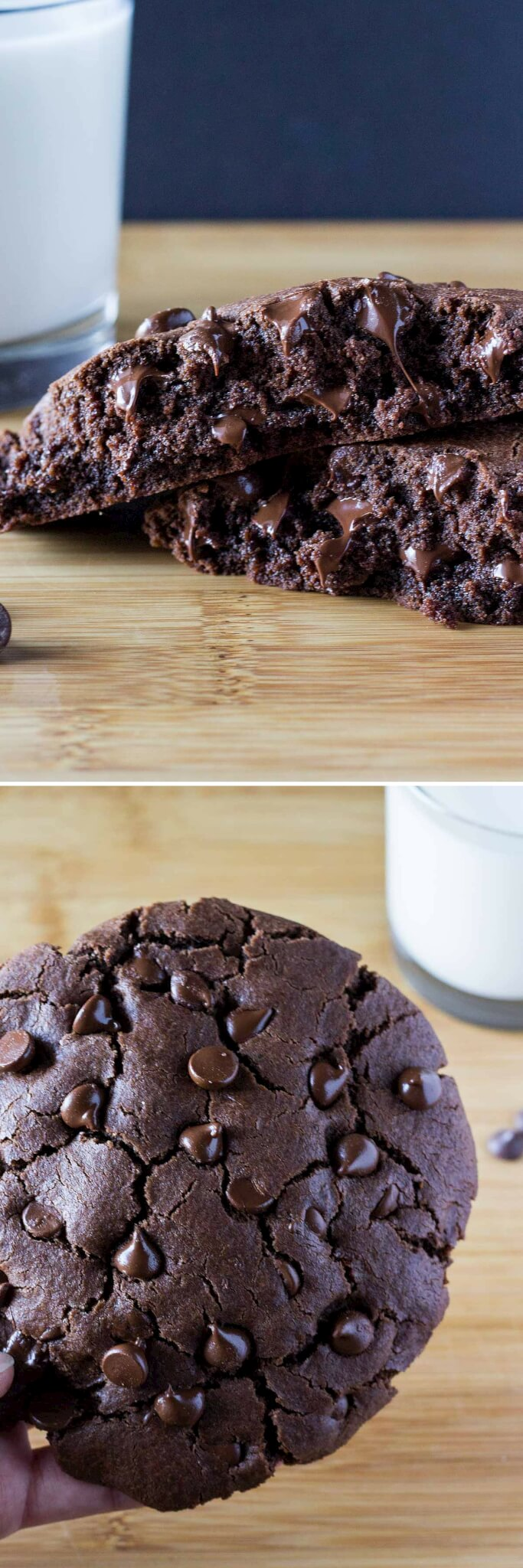 Giant Double Chocolate Cookie for One - Just so Tasty