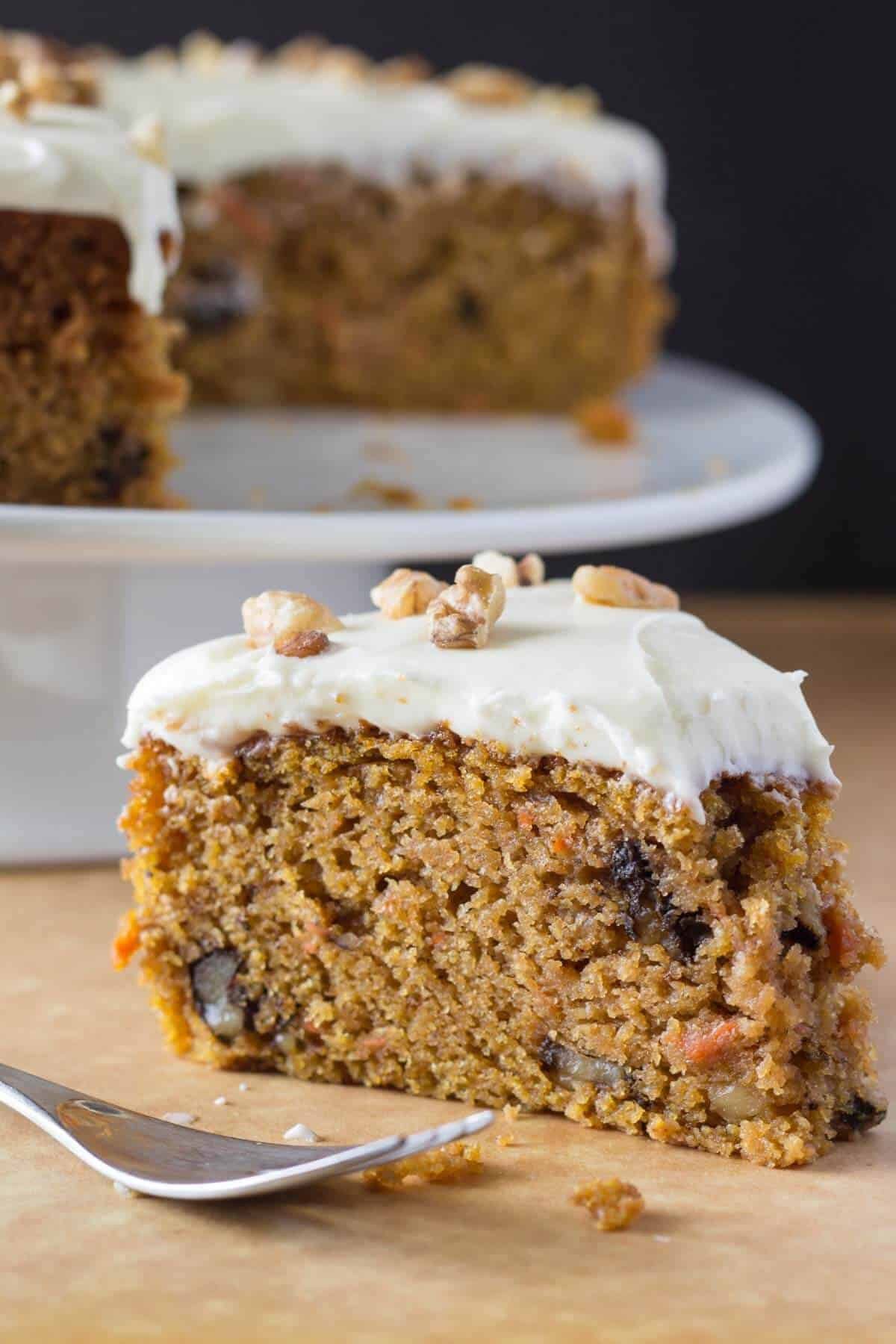 Easy Carrot Cake with Cream Cheese Frosting - Just so Tasty