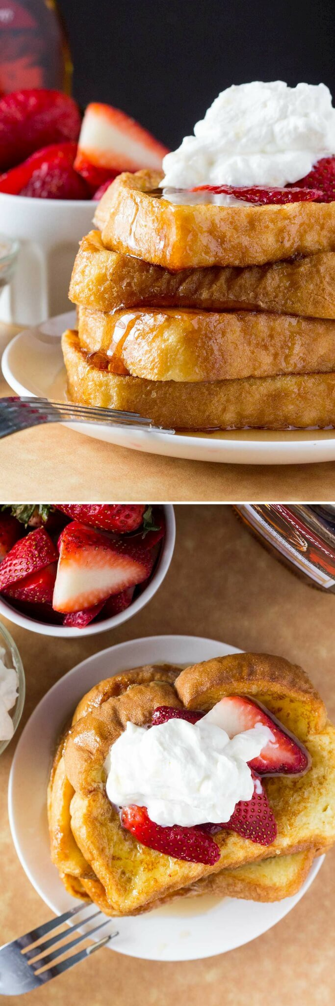 The BEST French Toast - fluffy, buttery, golden brown, topped with maple syrup and the best reason to get out of bed!