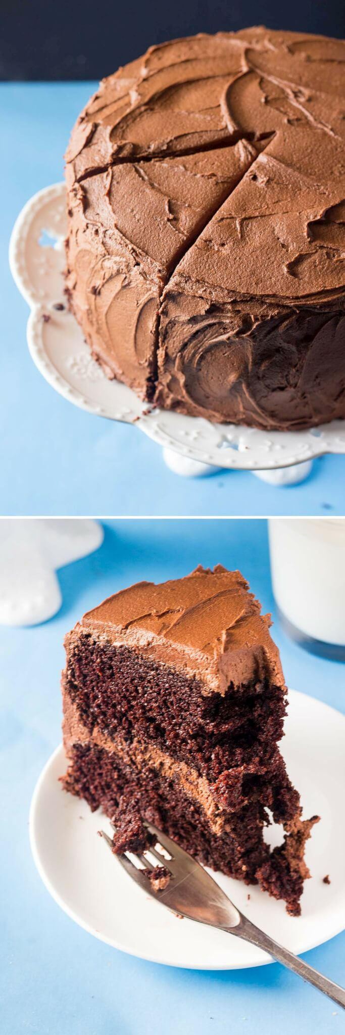 Double Chocolate Layer Cake - Just so Tasty