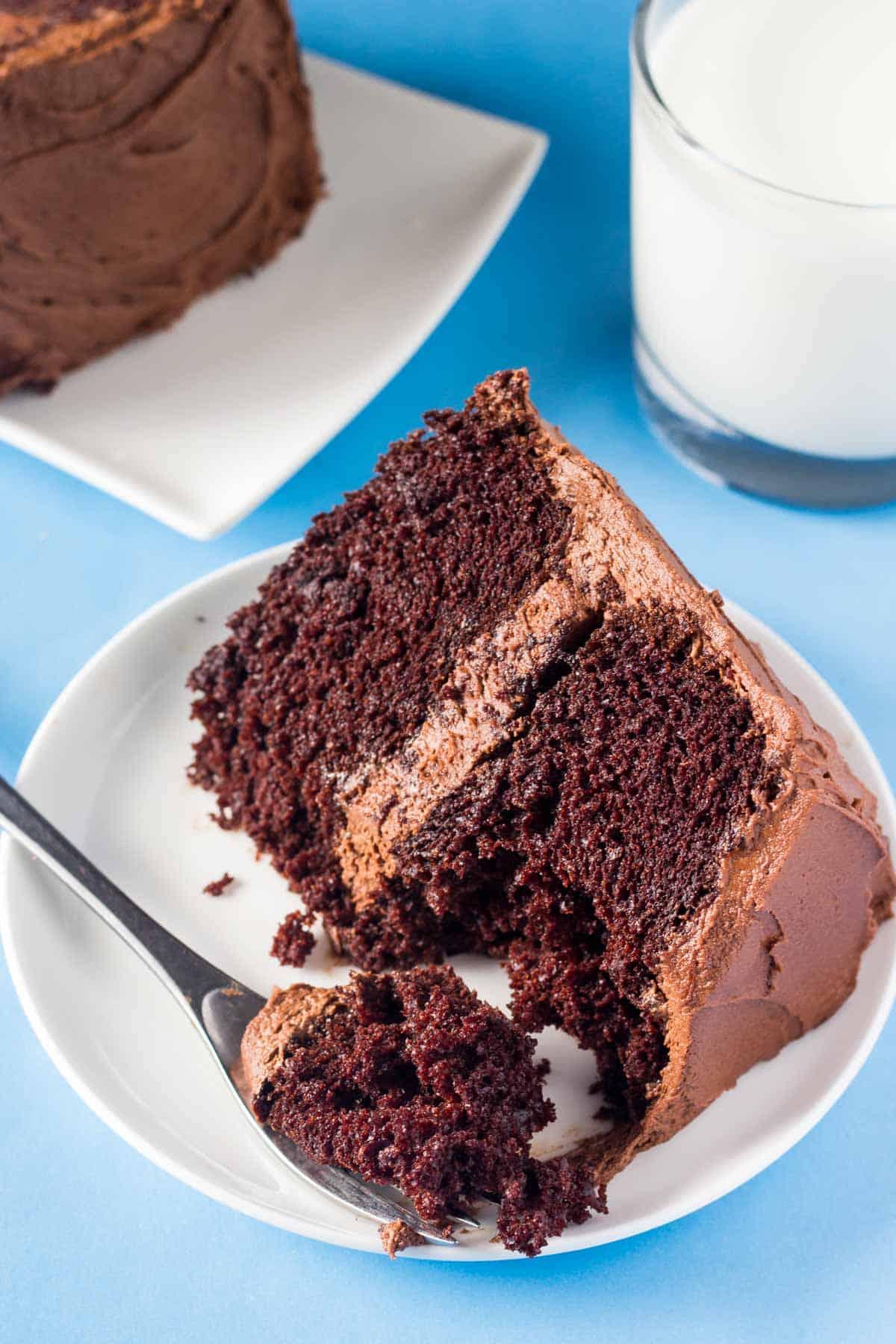 Super Moist Chocolate Layer Cake Recipe