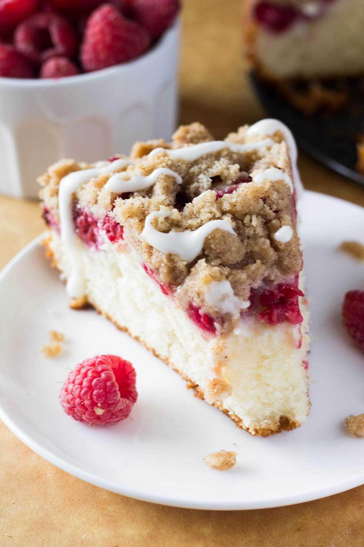 Rich, buttery, perfectly moist Raspberry Coffee Cake with Streusel ...