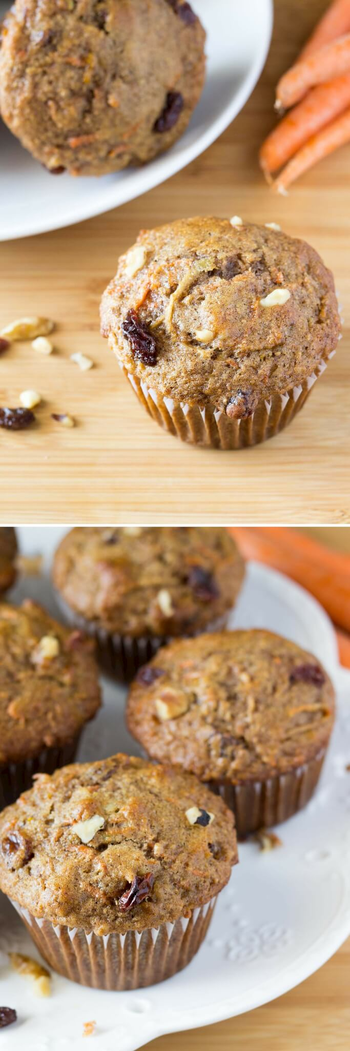 With shredded carrots, apple, cinnamon, orange zest, walnuts & raisins - these Morning Glory Muffins are packed with flavor and so easy to make.
