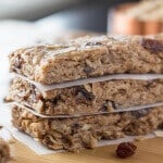 Chewy Oatmeal Cookie Granola Bars