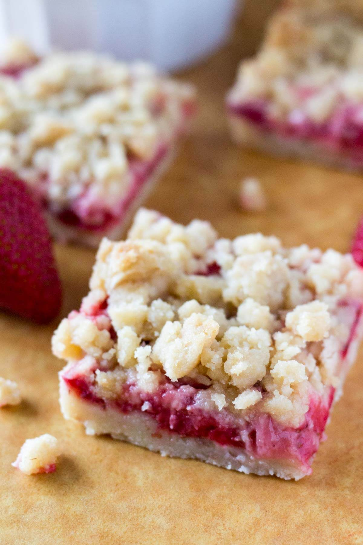 Strawberry Crumb Bars Just So Tasty