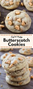 These super soft & chewy Butterscotch Cookies are filled with butterscotch chips. Brown butter is the secret ingredient for ridiculously flavorful, perfect butterscotch taste!