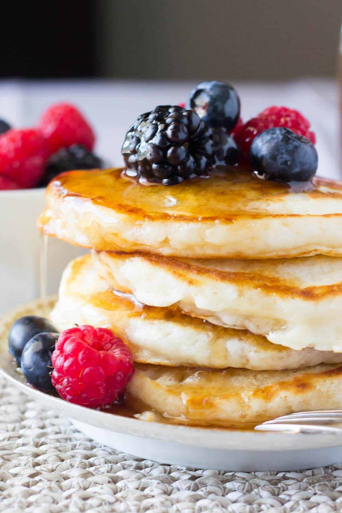 Fluffy Buttermilk Pancakes Just So Tasty