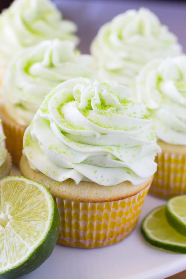These Lemon Lime Cupcakes are perfect for summer. Fresh citrus taste, ridiculously soft cupcake crumb & topped with perfectly smooth lime buttercream!