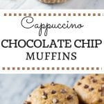 These Cappuccino Chocolate Chip Muffins are infused with delicious coffee flavor, ridiculously fluffy & super moist, filled with delicious melty chocolate chips & the BEST way to get your morning caffeine fix!