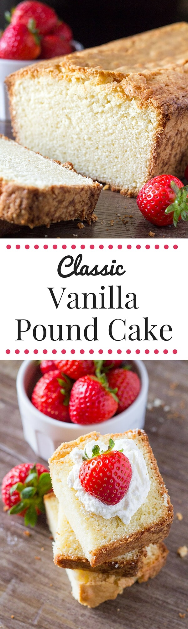 Seriously tender, deliciously buttery, perfectly moist Vanilla Pound Cake. Serve it with fresh fruit and whipped cream for dessert, or have a slice with your morning coffee. Learn the secrets to making this classic cake.