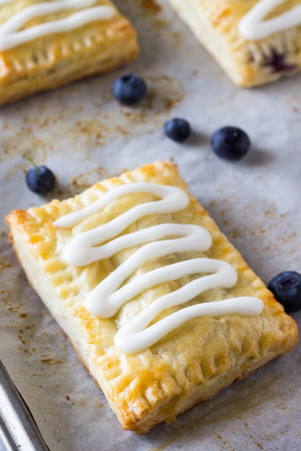 Homemade Blueberry Toaster Strudels Just So Tasty