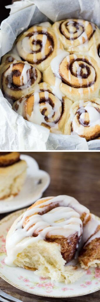 Perfectly fluffy, super soft homemade cinnamon rolls with vanilla glaze. The PERFECT cinnamon roll recipe!