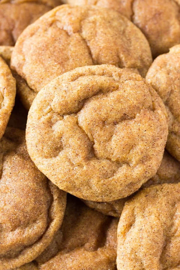 These Pumpkin Cookies are super soft & chewy and filled with fall flavors. These are the PERFECT cookies for fall!