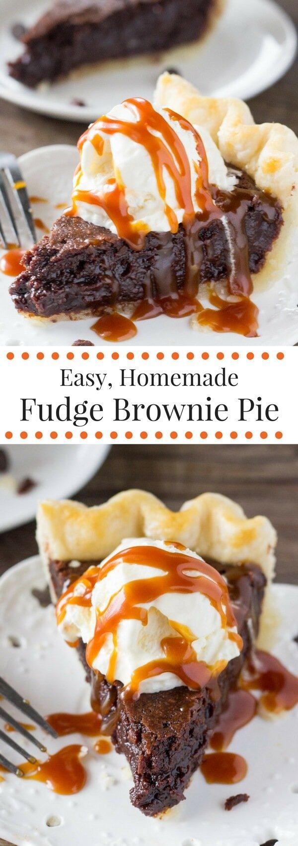Fudge Brownie Pie Just So Tasty