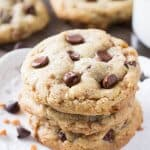 Toffee Brown Butter Chocolate Chip Cookies