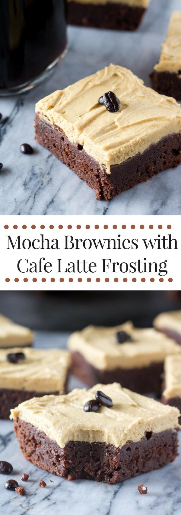 Coffee Chocolate Brownies With Mocha Icing