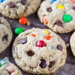 Soft and Chewy Monster Cookies.