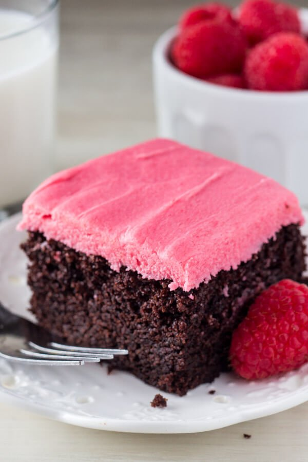 Fudgy Chocolate Cake With Raspberry Frosting Just So Tasty
