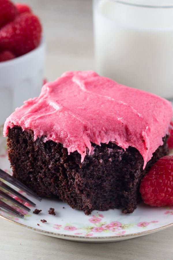 deep chocolate raspberry cake