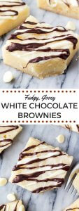 White Chocolate Brownies. These super fudgy, gooey white chocolate brownies are made in one bowl and perfect for white chocolate lovers. www.justsotasty.com