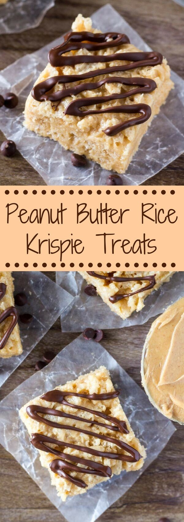 Peanut Butter Rice Krispie Treats are so easy to make, and  the perfect recipe for your chocolate peanut butter cravings. Like a crispy, crunchy, chewy peanut butter cup! #ricekrispies #cerealtreats #peanutbuttercups