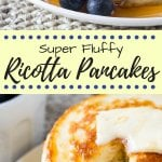 Fluffy Ricotta Pancakes. These ricotta pancakes have a deliciously creamy flavor and the fluffiest texture. They're perfect for creating tall pancake stacks - a the perfect way to make your pancakes extra special. www.justsotasty.com