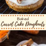 Carrot Cake Doughnuts. These baked doughnuts have all the flavor of your favorite carrot cake with cream cheese frosting in doughnut form. www.justsotasty.com