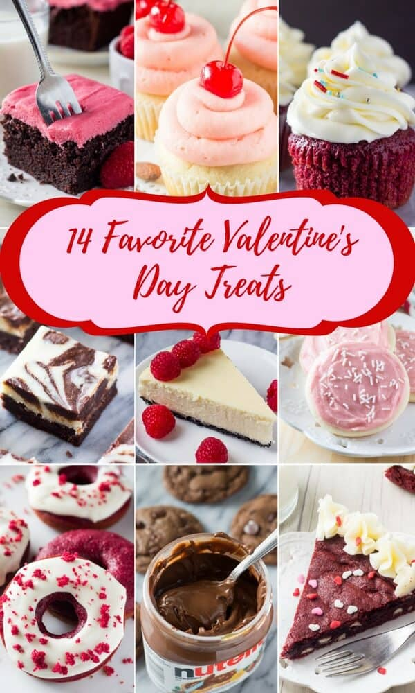 Not sure what to make for Valentine's? These 14 treats feature red velvet, strawberries & chocolate! Perfect for that special someone