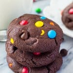 M&M Double Chocolate Cookies