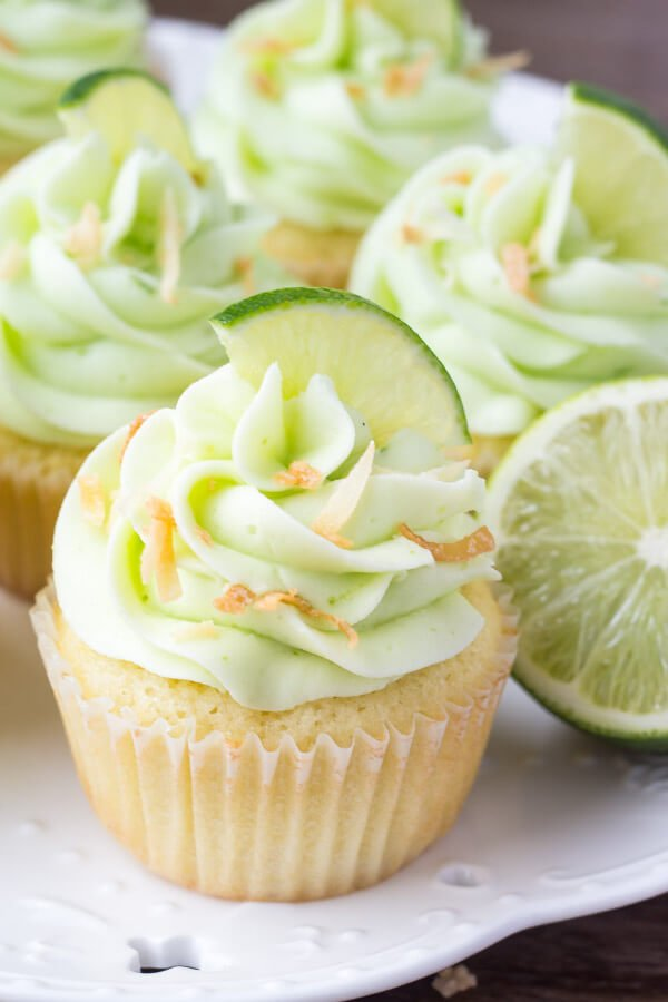 Coconut Cupcakes with Lime Buttercream Frosting - Just so ...