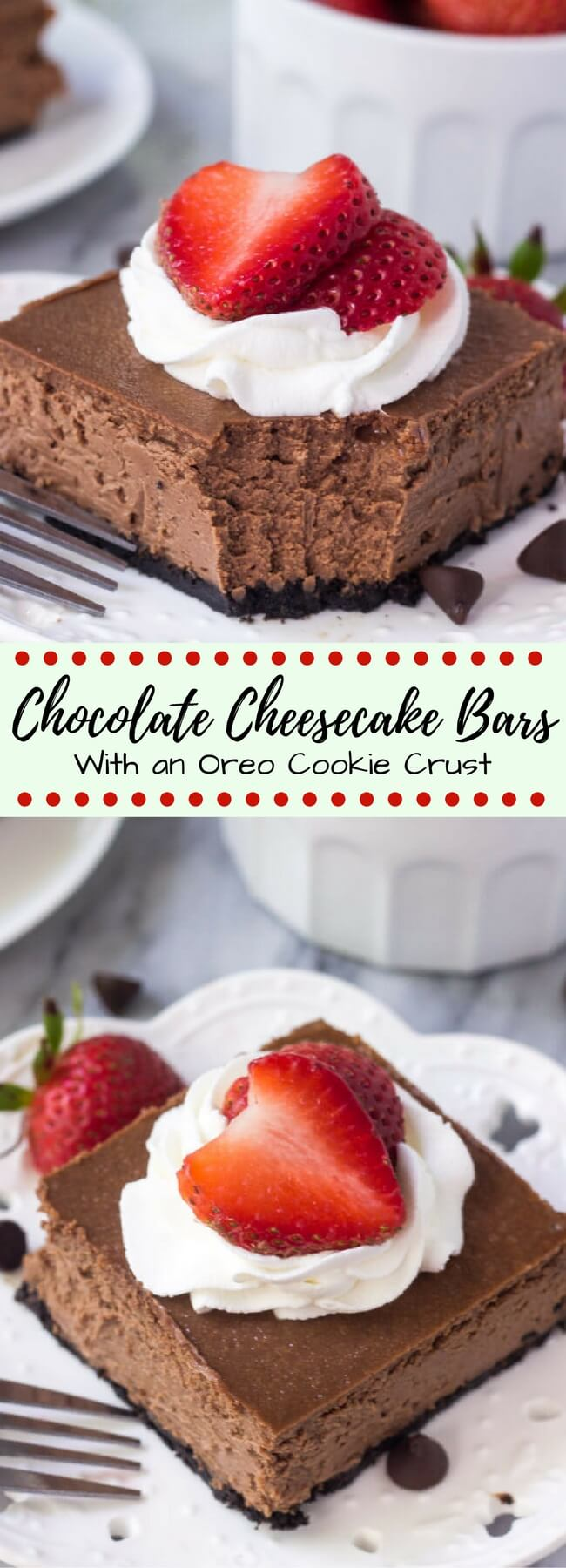 Chocolate Cheesecake Bars - Just so Tasty