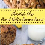 This peanut butter banana bread is a super moist banana bread infused with delicious peanut butter. Then it's filled with peanut butter chips & chocolate chips. Super easy, one bowl & no mixer - it's the perfect chunky monkey recipe.