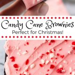 hese candy cane brownies are the perfect Christmas brownies. They start with fudgy chewy brownies, then they're topped with a thick layer of creamy peppermint frosting and sprinkled with crushed candy canes.#christmasbrownies #peppermintbrownies #candycanebrownies #candycanes