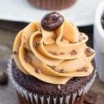 Moist, soft, fudgy chocolate cupcakes infused with coffee and topped with fluffy coffee frosting. These mocha cupcakes are perfect for true coffee lovers!