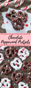 Crunchy, salty & sweet - these Chocolate Peppermint Pretzels are the perfect holiday treat. They're so easy to make and you only need 3 ingredients. They're delicious for snacking on while watching a Christmas movie, and they also make a great edible gift.#christmascandy #chocolatepretzels #candycanes #ediblegifts