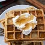 Fluffy Eggnog Waffles