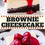 These brownie cheesecake bars are the best of both worlds. The base is a chocolate brownie - either made form scratch or you can use a box mix. Then there's a layer of smooth, creamy cheesecake. The perfect decadent dessert!#browniecheesecake #brownies #cheesecake #dessert #chocolate